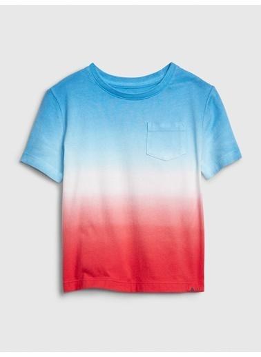 Gap Cepli Desenli T-Shirt Mavi